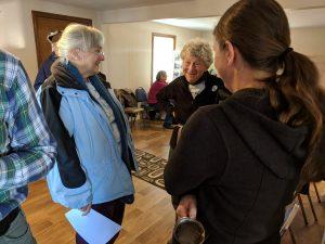 land trust members chatting