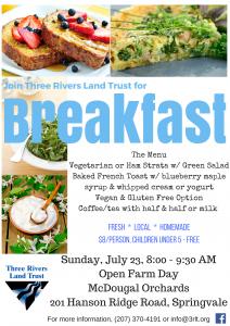 2017 open farm day breakfast